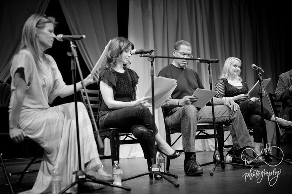 Mary Elizabeth McGlynn, Melissa Fahn, Beau Bellingslea and Wendy Lee reading Cowboy Bebop